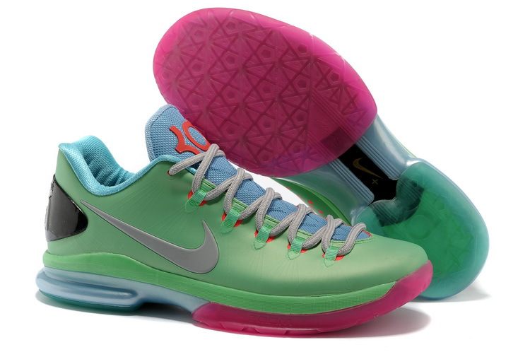 Nike Kevin Durant 5 Low Light Green Pink Grey