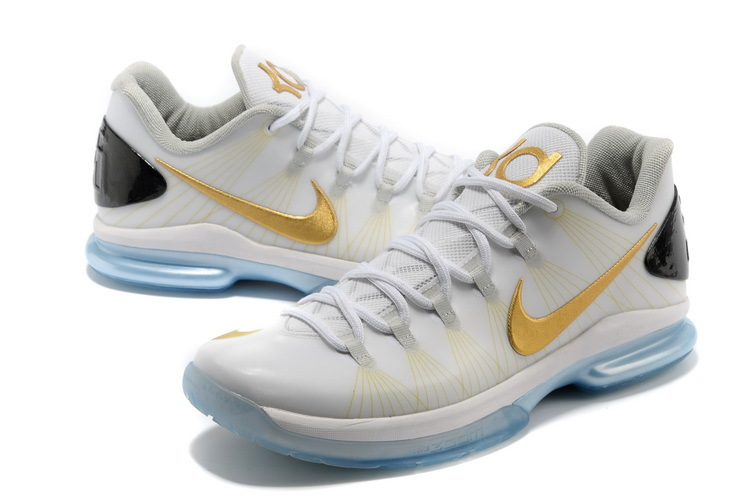 Nike Kevin Durant 5 Low White Gold