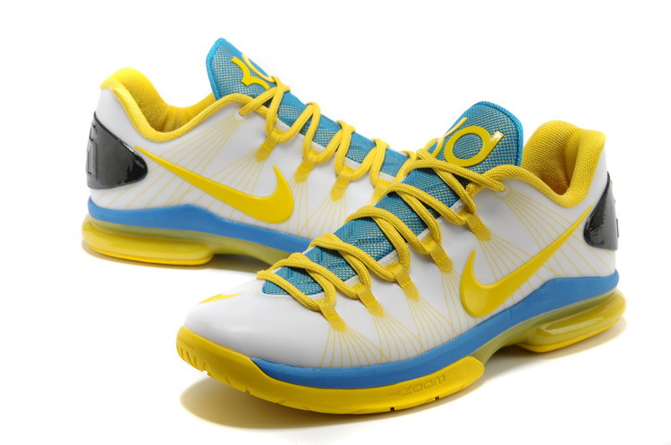 Nike Kevin Durant 5 Low White Yellow Blue
