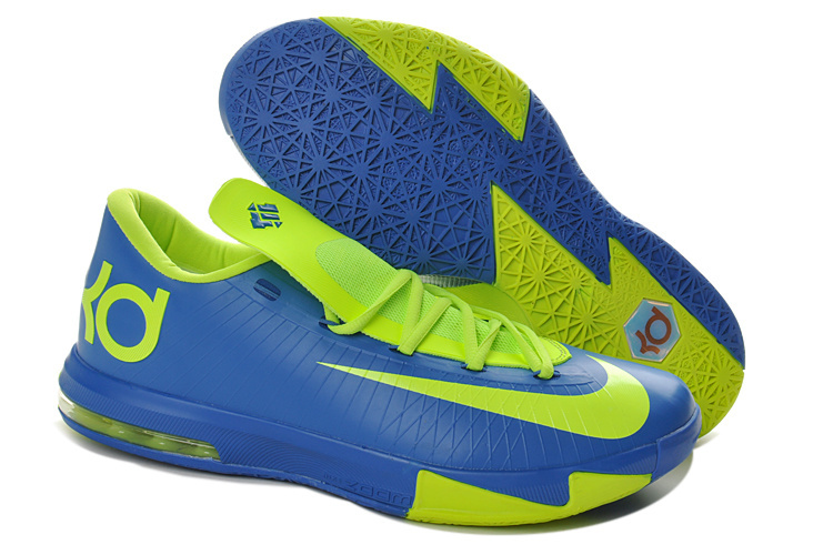 Women's Nike Kevin Durant 6 Blue Green Shoes