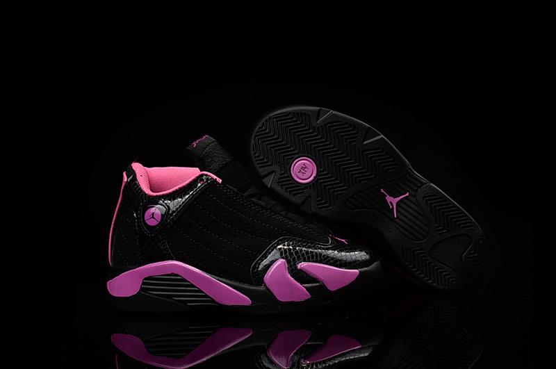 Nike Air Jordan 14 Retro Black Pink Kids' Shoes