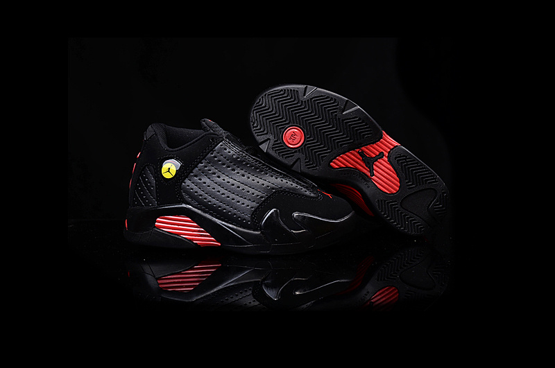 Nike Air Jordan 14 Retro Final Shot Black Red Kids' Shoes