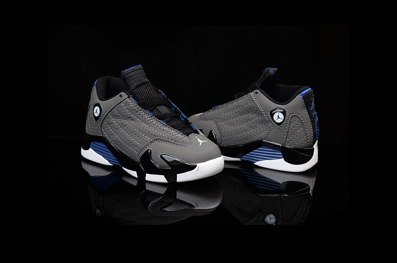 Nike Air Jordan 14 Retro Grey Black Royal Kids' Shoes