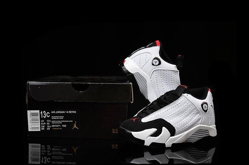 Nike Air Jordan 14 Retro White Black Red Kids' Shoes