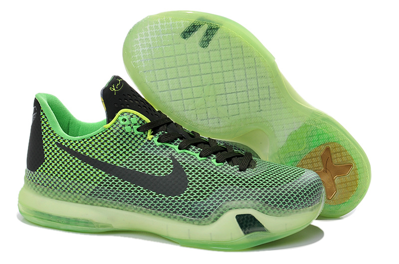Kids Kobe Bryant 10 Laker Green Black Shoes