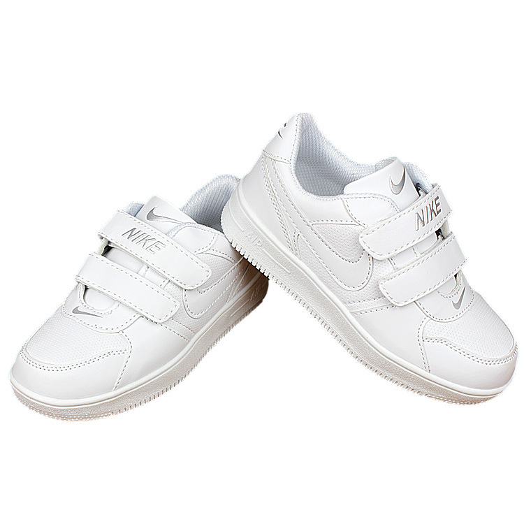 Kids Nike Air Force All White Shoes