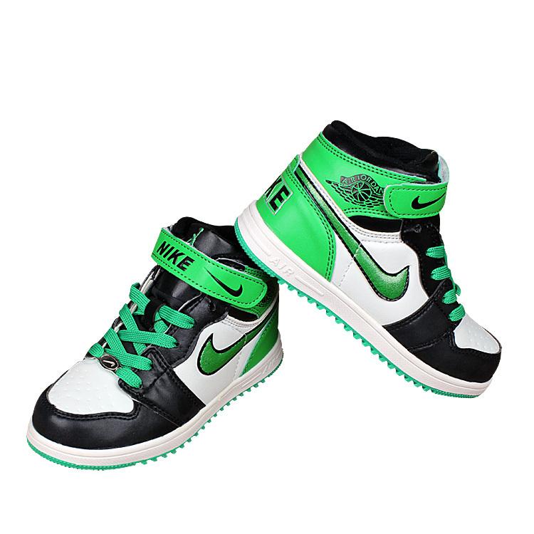 kids nike air force high black green white shoes kids71