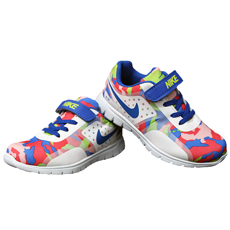 Kids Nike Air Force Strap Red Green Colorful Shoes