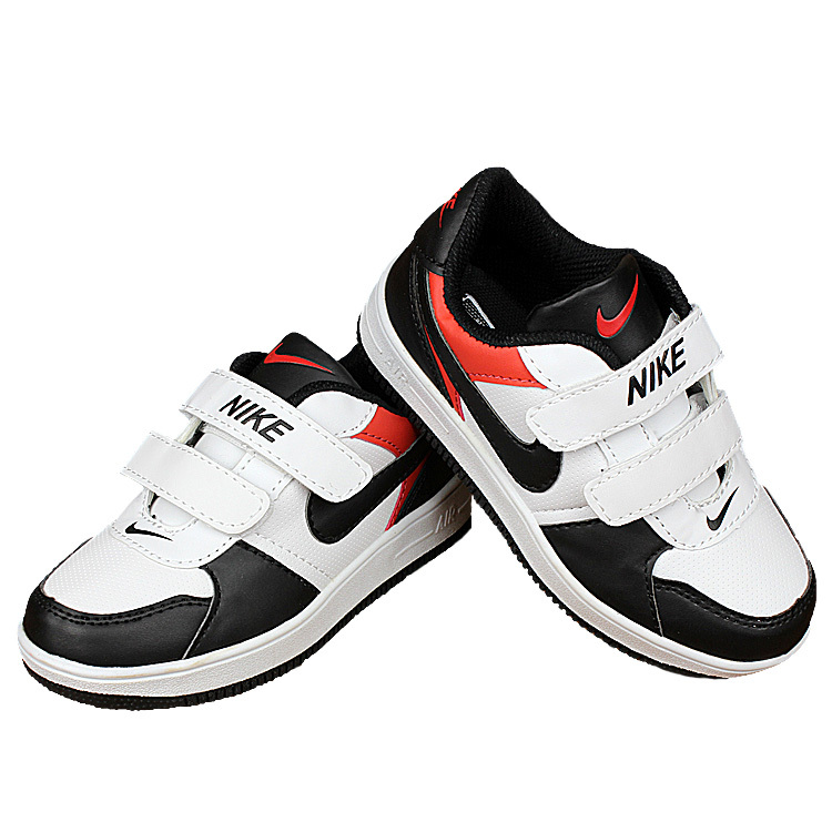 Kids Nike Air Force White Black Red Shoes