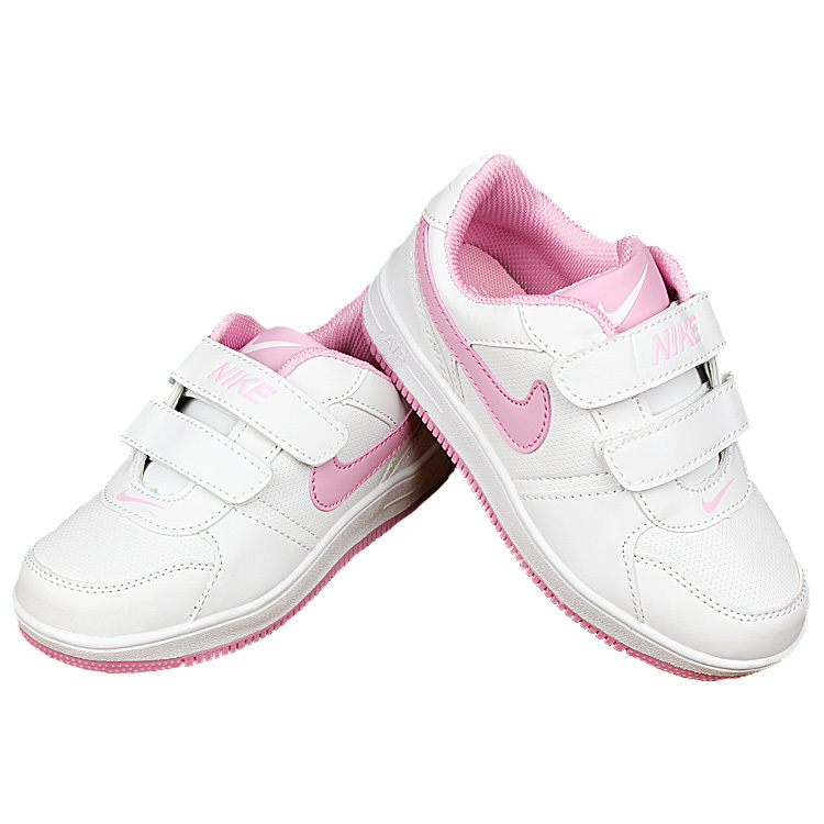 Kids Nike Air Force White Pink Shoes