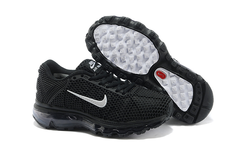 Kids Nike Air Max 2009 All Black Running Shoes