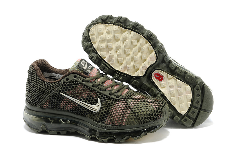 Kids Nike Air Max 2009 Army Green Running Shoes