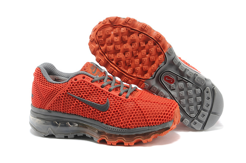 Kids Nike Air Max 2009 Orange Grey Running Shoes