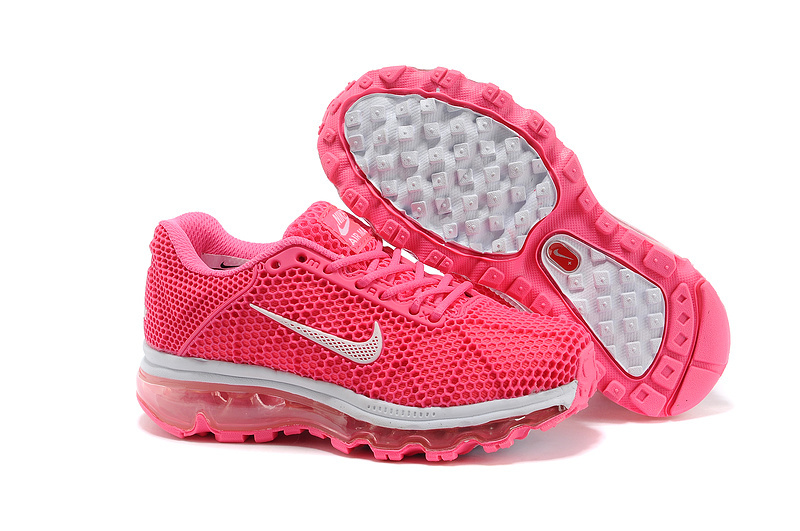 Kids Nike Air Max 2009 Pink White Running Shoes
