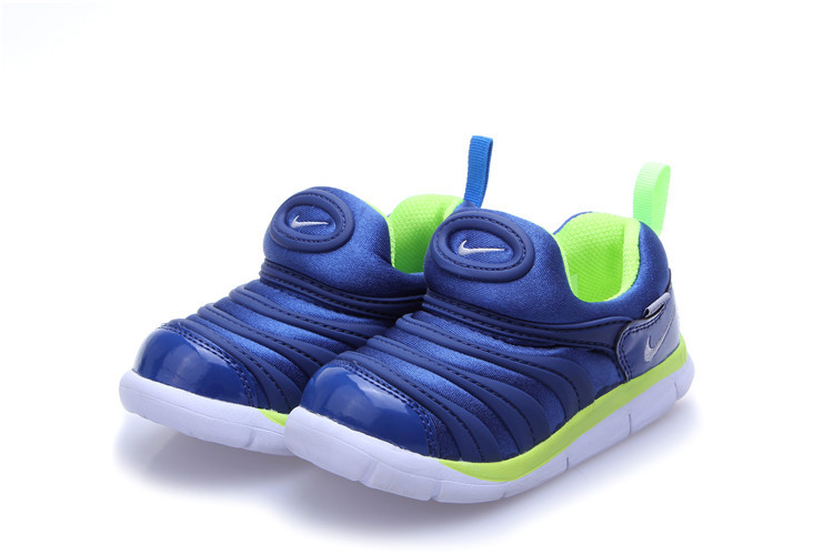 Nike Dynamo Free Blue Green White Shoes For Kids