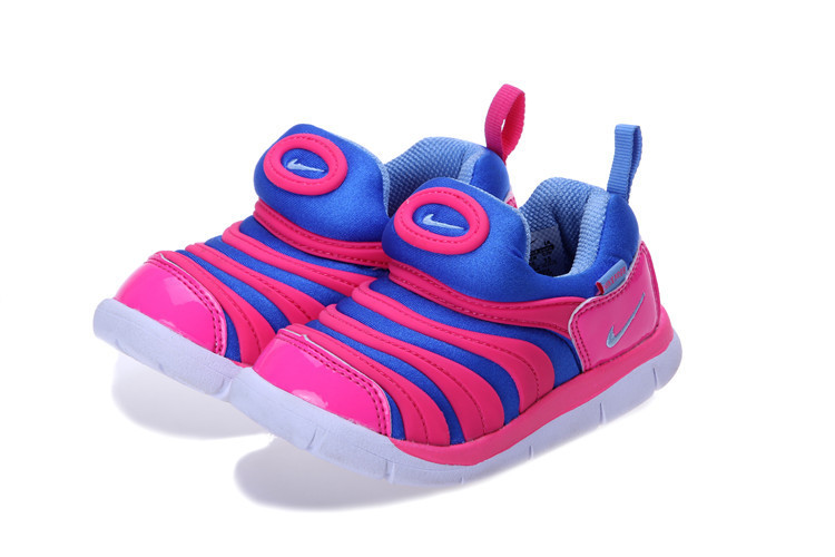 Nike Dynamo Free Blue Pink White Shoes For Kids
