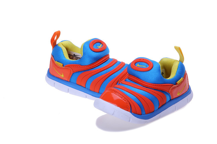 Nike Dynamo Free Blue Red White Shoes For Kids