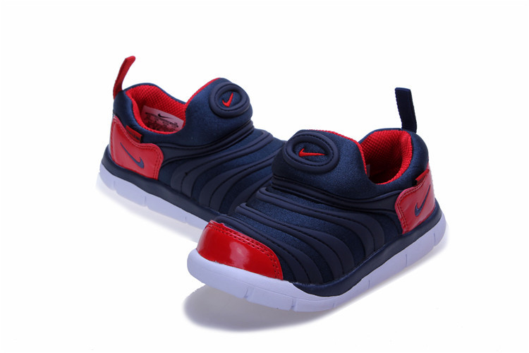 Nike Dynamo Free Dark Blue Red White Shoes For Kids
