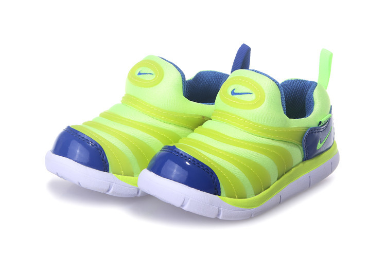 Nike Dynamo Free Fluorscent Green Green White Shoes For Kids