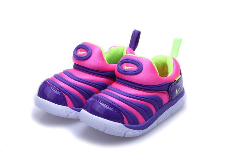 Nike Dynamo Free Pink Purple White Shoes For Kids
