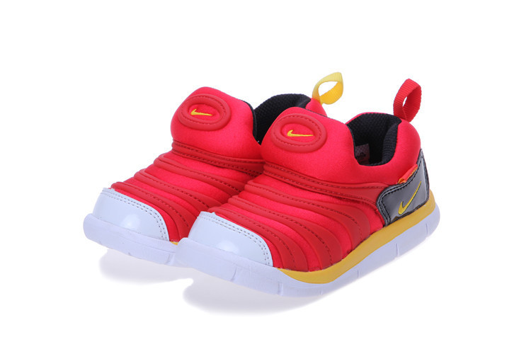 Nike Dynamo Free Red Black Yellow White Shoes For Kids