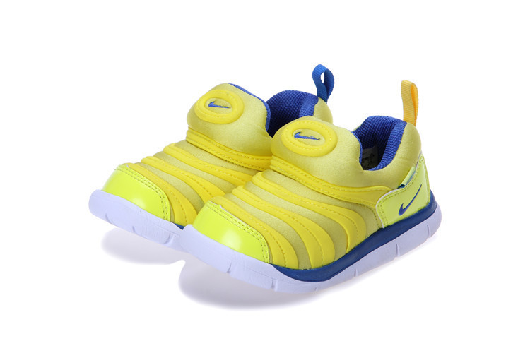 Nike Dynamo Free Yellow Blue Shoes For Kids