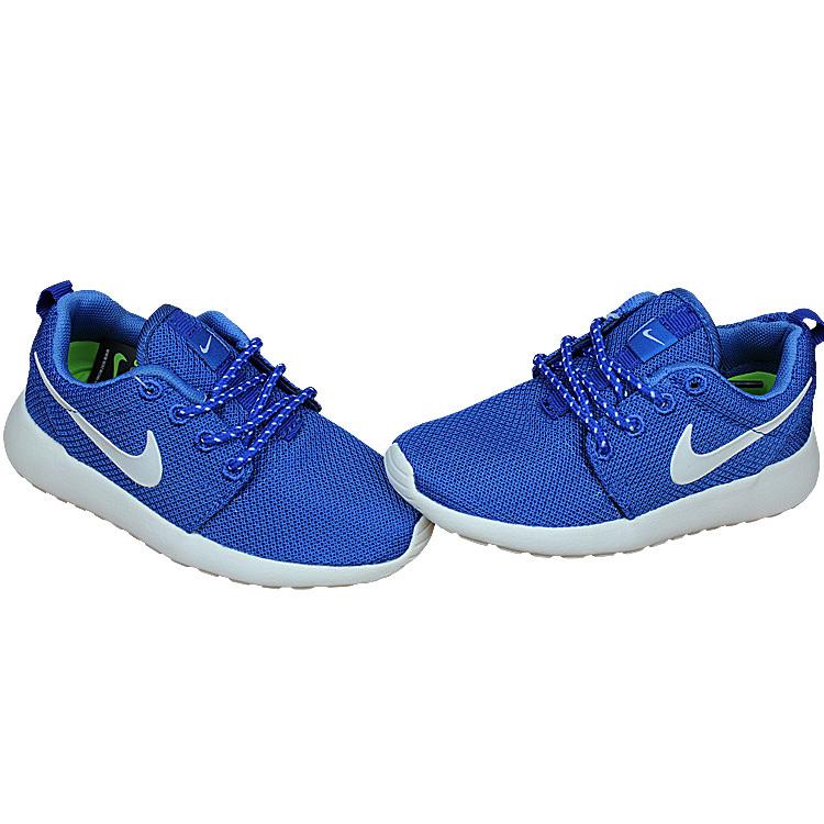 Kids Nike Roshe Run Blue White Shoes