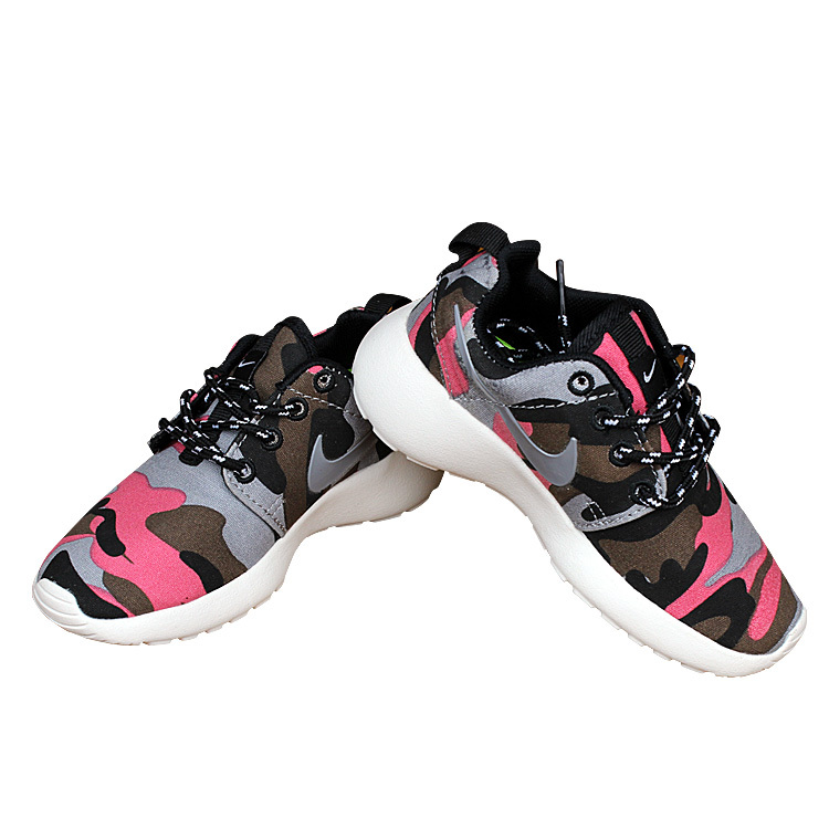 nike roshe run camo pink shoes kids57 50 00