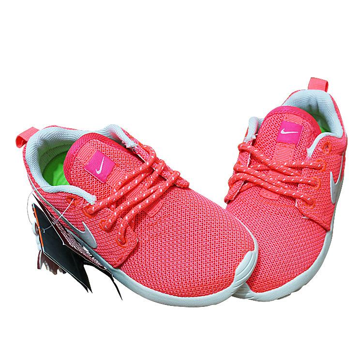 Kids Nike Roshe Run Pink White Shoes
