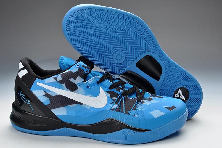 Classic Nike Kobe Bryant 8 Playoff Blue Black
