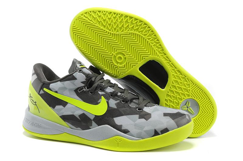 Classic Nike Kobe Bryant 8 Playoff Grey Green