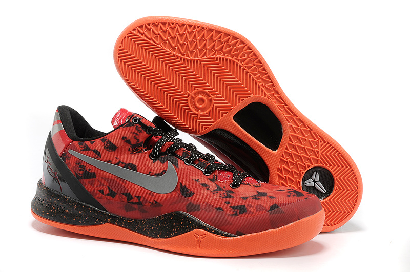 Classic Nike Kobe Bryant 8 Playoff Red Black Orange