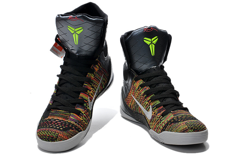 8c52e980813d 2014 Popular Nike Kobe Bryant 9 Elite High Black Colorful Shoes