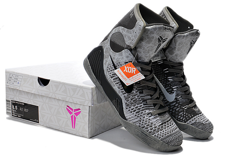 Nike Kobe Bryant 9 High Black Grey Shoes