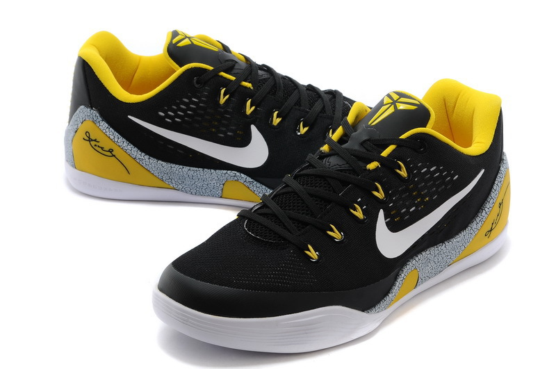 Nike Kobe Bryant 9 Low Black Yellow White Shoes