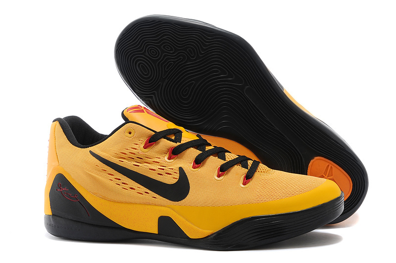 Nike Kobe Bryant 9 Low Bruce Lee Yellow Black Shoes
