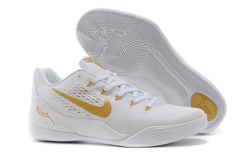 Nike Kobe Bryant 9 Low White Gold Shoes
