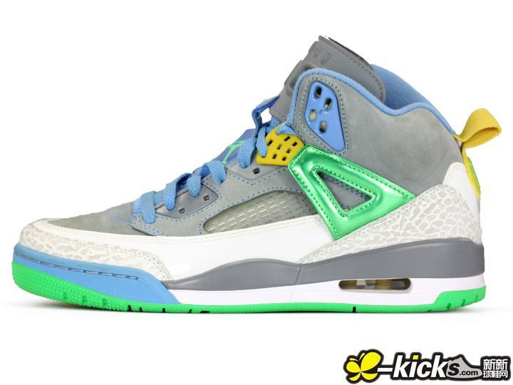 New Nike Air Jordan 3.5 Grey Blue Green Yellow Shoes