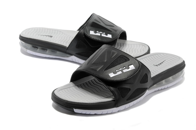 Nike Lebron James Hydro 10 Air Cushion Black Grey Sandal