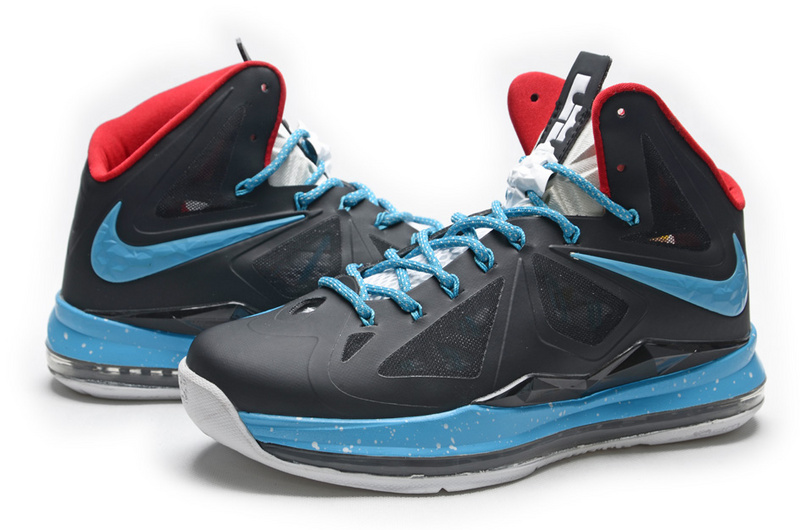 Lebron James 10 Hardpack Black Blue Shoes