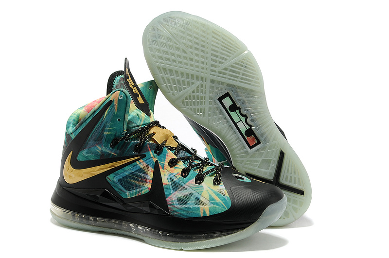 uk availability 619e3 dfcbc Nike Lebron 10 Shoes PS MVP Black Godl Blue