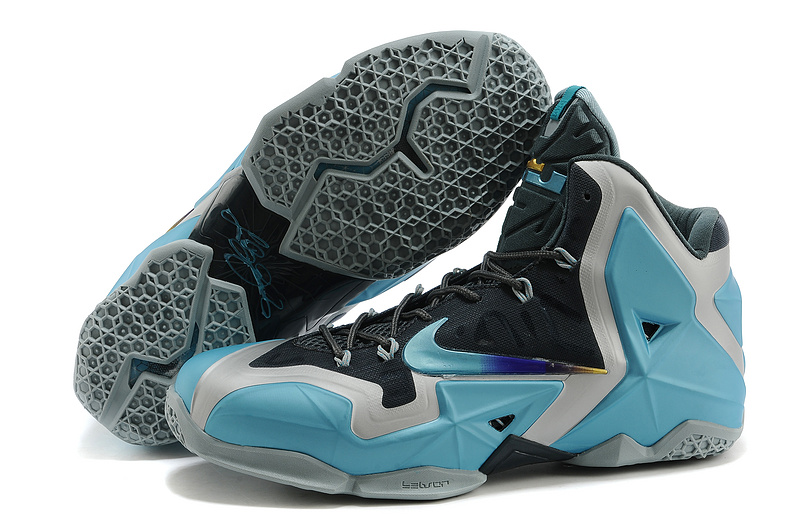 New Nike Lebron James 11 Gamma Blue Black Shoes