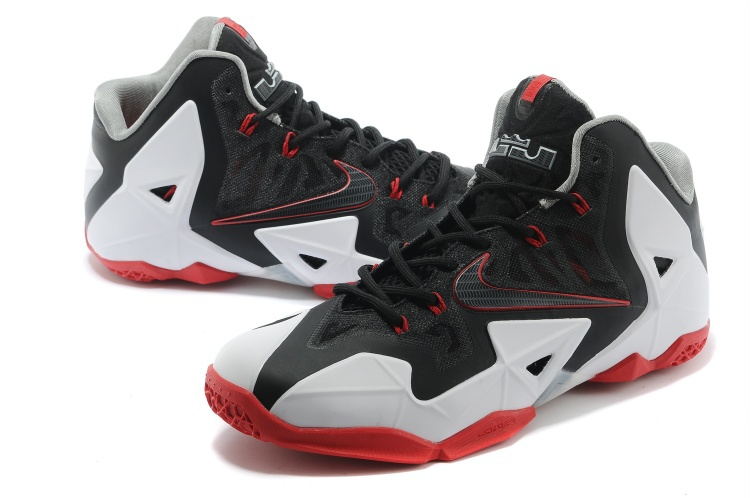 Nike Lebron James 11 Low Black White Red Shoes