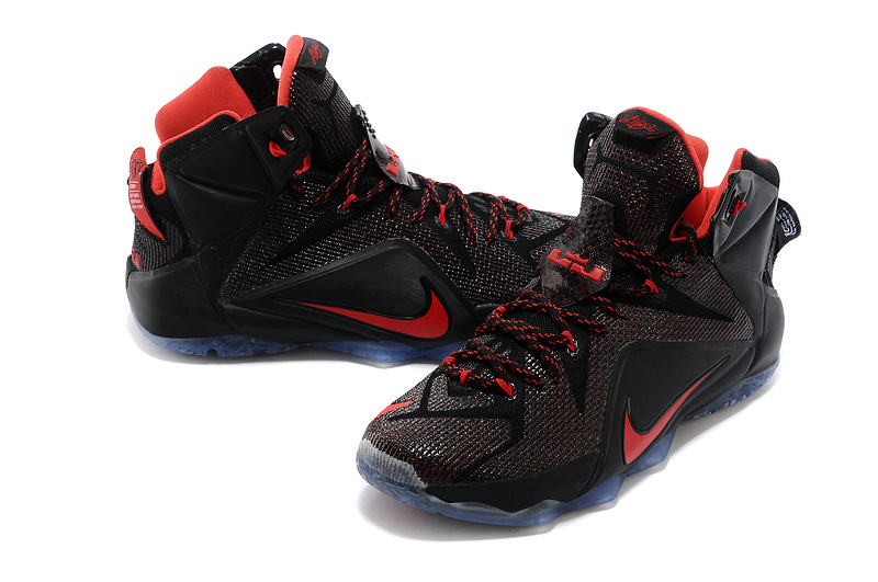 Nike Lebron James 12 Black Red Basketball Shoes