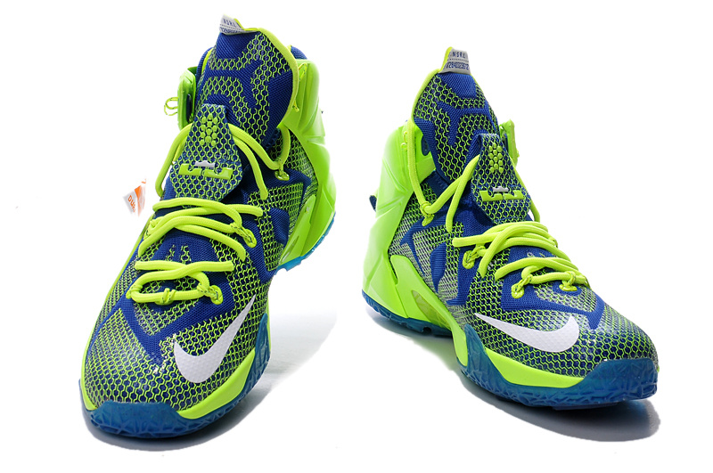 Lebron James 12 Green Blue Shoes