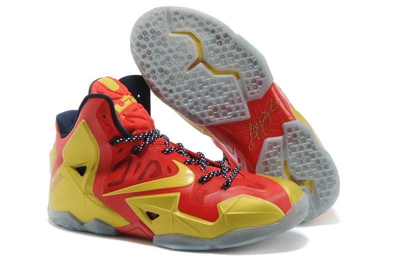 Discount Nike Lebron James 11 Shoes Champion Edition Red Gold