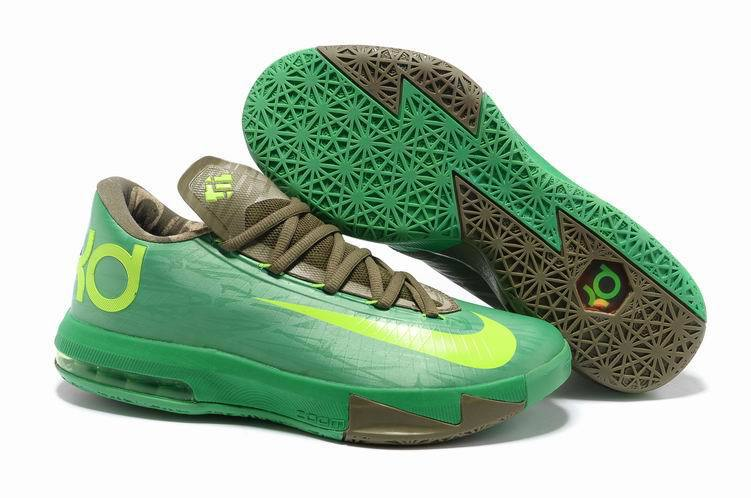 Nike Kevin Durant 6 Low Green Brown Basketball