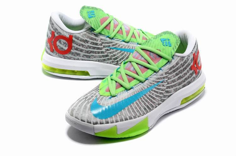 Nike Kevin Durant 6 Low White Grey Green Basketball