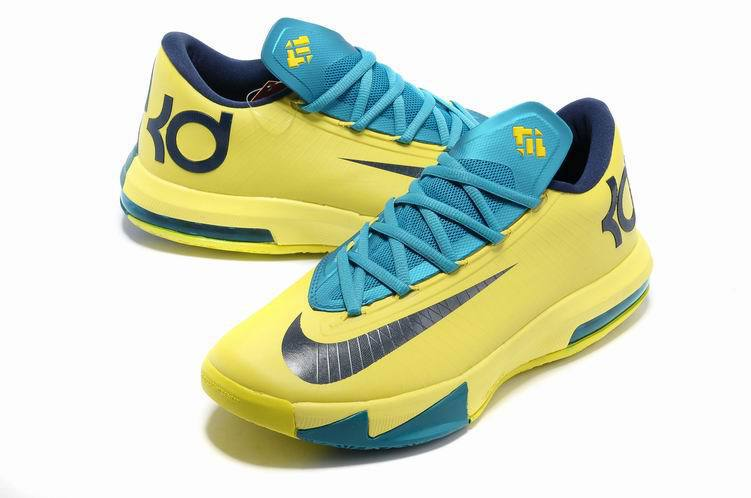 Nike Kevin Durant 6 Low Yellow Blue Basketball