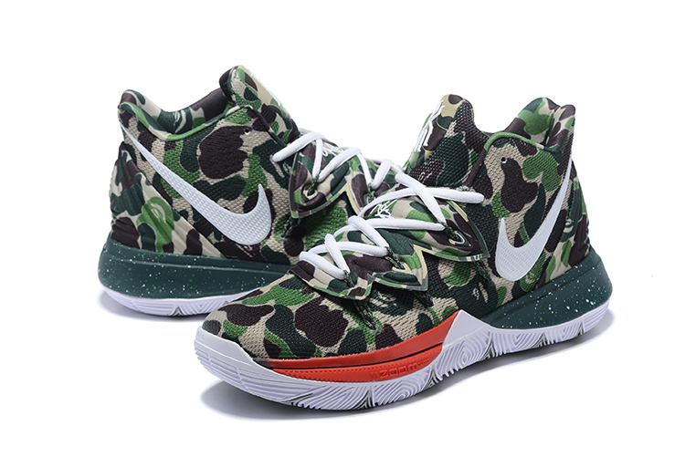 Nike Kyrie Irving 5 Army Green Red White Shoes